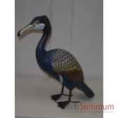 pelican en bois animaux bois bleu lcdm016