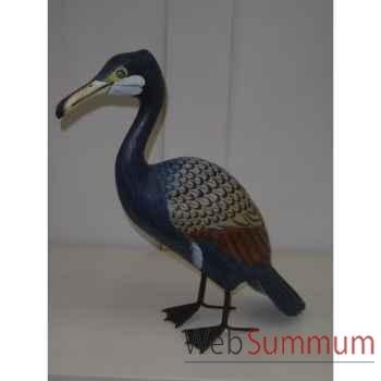 Pélican en bois Animaux Bois Bleu -lcdm016