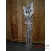 chouette en bois animaux bois petit modele lcdm027
