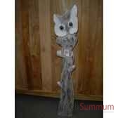 chouette en bois animaux bois grand modele lcdm029