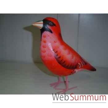 Cardinal en bois Animaux Bois -lcdm048