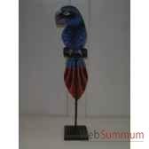 perroquet bleu en bois animaux bois lcdm053
