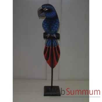 Perroquet Bleu en bois Animaux Bois -lcdm053