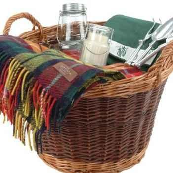 Panier jardinage en bois de saule Optima Willow Log Basket Gift Set -gdnlog