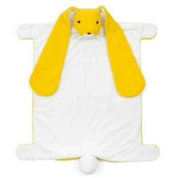 Couverture peluche marionnette lapin jaune Brio -30471