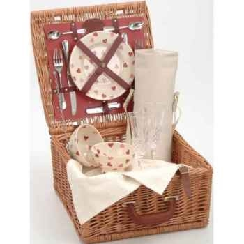 Panier pique-nique en bois de saule Optima Emma Bridgewater Hearts Traditional 2 personnes -bridge2hearts