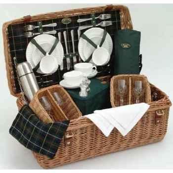 Panier pique-nique en bois de saule Optima Wedgwood 4 personnes -wedg4stf