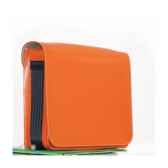 besace midipy en cuir orange mid043