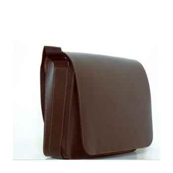 Besace Midipy en cuir Chocolat -mid040