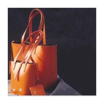 Cabas Petit Modèle Midipy en cuir Orange -mid038