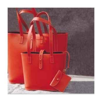 Cabas Grand Modèle Midipy en cuir Rouge -mid032