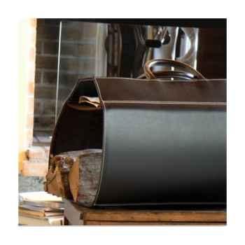 Porte bûches Midipy en cuir Noir -mid016