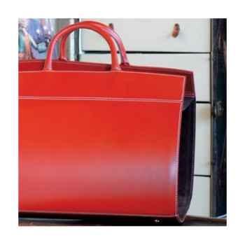 Porte bûches Midipy en cuir Rouge -mid017