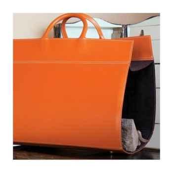 Porte bûches Midipy en cuir Orange -mid018