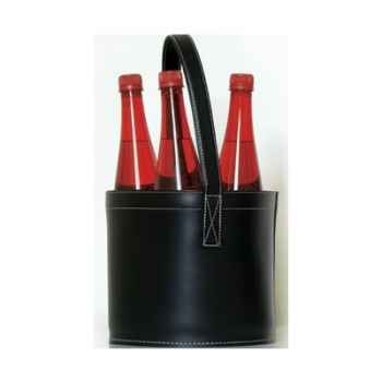 Midi Bar Quatro Midipy en cuir Noir -mid021
