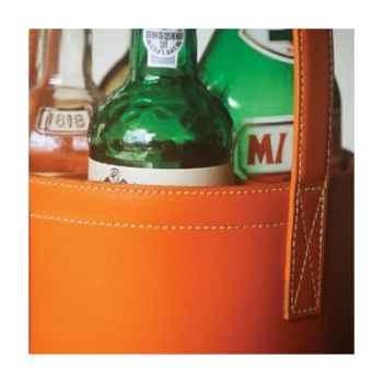 Midi Bar Quatro Midipy en cuir Orange -mid023