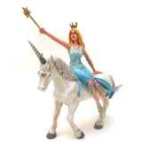 figurine la fee bleue sur la licorne blanche 61374