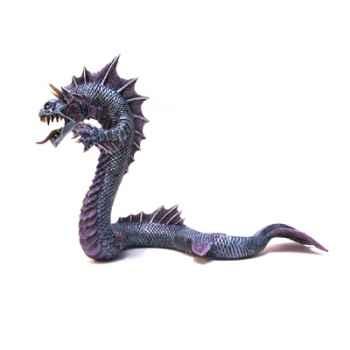 Figurine le grand dragon des mers bleu argente-60239
