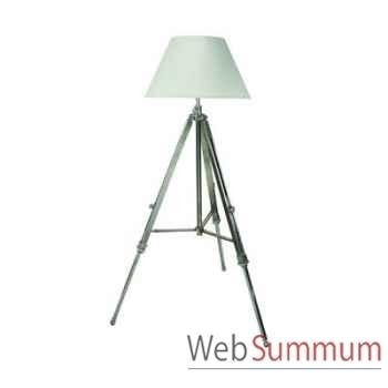 Lampadaire Lampe Trépied Vieilli Argent -amfsl017