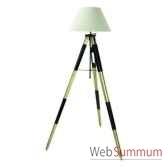 lampadaire lampe tripode topographe noir amfsl016f