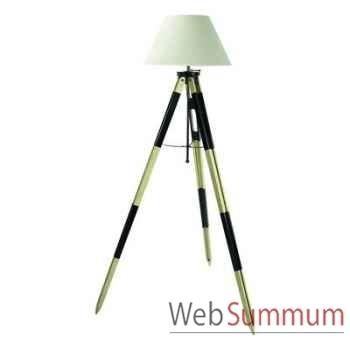 Lampadaire Lampe Tripode Topographe Noir -amfsl016f