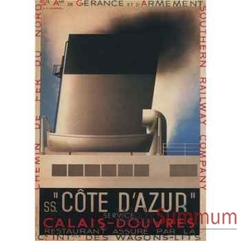 Toile Paquebot Cote d\'Azur -amfac366