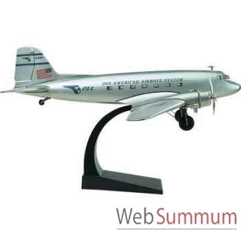 Réplique d\'Avion DC3 Version Argent -amfap453