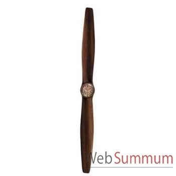 Hélice d\'Avion Pendule en Bois Lam. Horloge 120 cm -amfap154