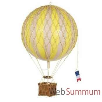 Réplique Montgolfière Ballon Jaune 18 cm -amfap161y