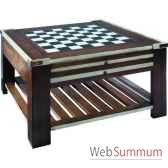 table basse table a jeux ivoire amfmf005