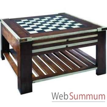 Table basse Table à Jeux Ivoire -amfmf005