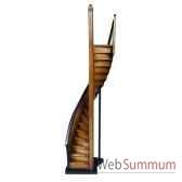 maquette architecture escalier de phare brun noir amfar013