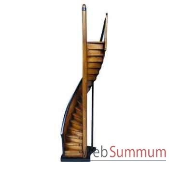 Maquette Architecture Escalier De Phare Brun Noir -amfar013