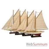 replique bateau set 4 mini pond yachts amfas057a