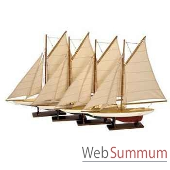 Réplique Bateau Set 4 Mini Pond Yachts -amfas057a