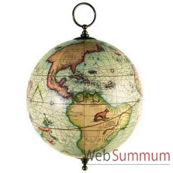 Globe Terrestre Mercator à Suspendre -amfgl002a