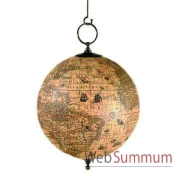 Globe Terrestre Hondius à Suspendre -amfgl003a