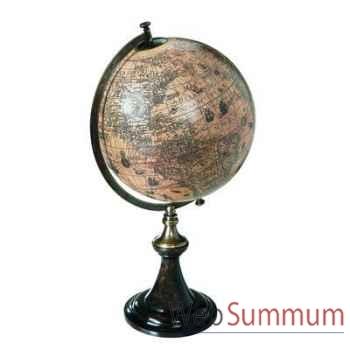 Globe Terrestre Hondius 1627 Support Classique -amfgl003d