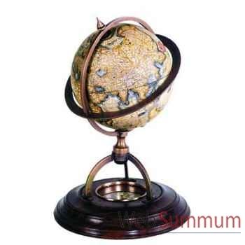 Globe Terrestre Support Boussole -amfgl019