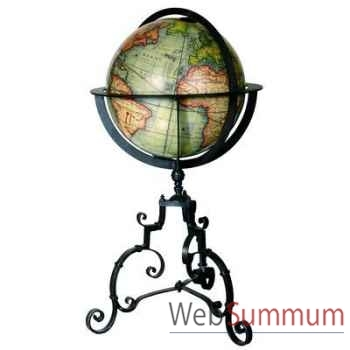 Globe Terrestre Vaugondy 1745 Fer Forge -amfgl029