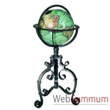 Globe Terrestre Table XVIIIe Baroque -amfgl039