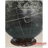 support globe terrestre en bois amfgl200