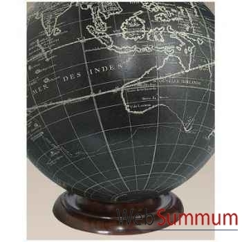 Support Globe Terrestre En Bois -amfgl200