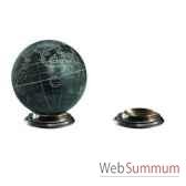 support globe terrestre en bronze amfgl200b