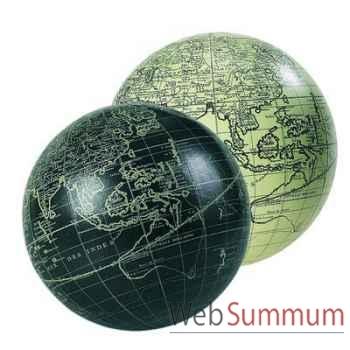 Globe Terrestre Vaugondy Noir 14 cm -amfgl211