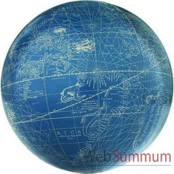 Globe Terrestre Mercator Bleu Ivoire -amfgl216