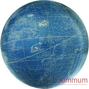 Globe Terrestre Mercator Bleu Ivoire 18 cm -amfgl316