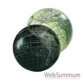 globe terrestre vaugondy noir 12 cm amfgl111