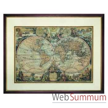 Mappemonde 1735 Cadre -amfmc750f