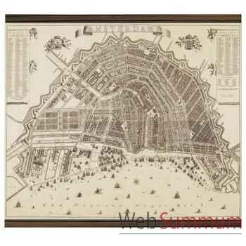 Panneaux Imprimés Carte Amsterdam 1737 -amfmc809